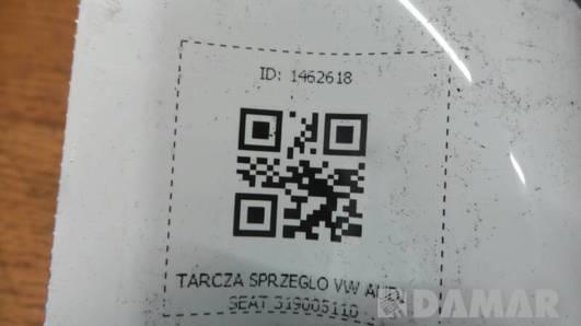 TARCZA SPRZEGLO VW AUDI SEAT 319005110