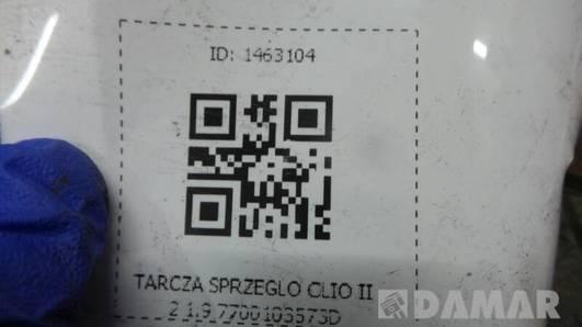 7700103573D TARCZA SPRZEGLO CLIO II 2 1.9