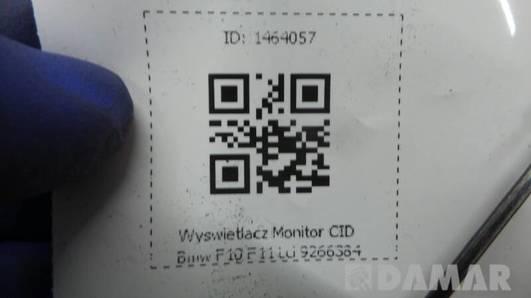 9266384 WYSWIETLACZ MONITOR CID BMW F10 F11 Lci