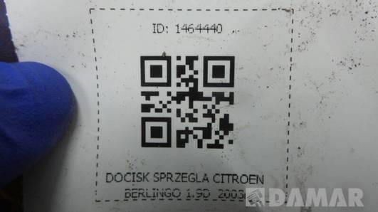 DOCISK SPRZEGLA CITROEN BERLINGO 1.9D  2003r