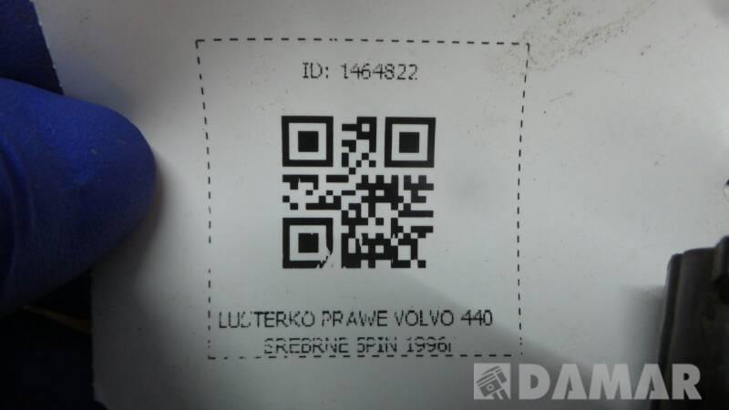 LUSTERKO PRAWE VOLVO 440 SREBRNE 5PIN 1996r