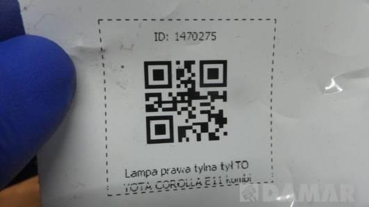 LAMPA PRAWA TOYOTA COROLLA E11 KOMBI