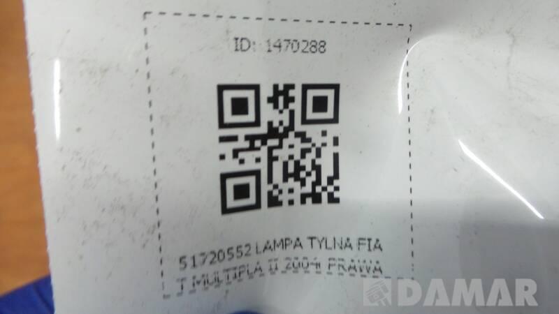 51720552 LAMPA PRAWA FIAT MULTIPLA II 2004r