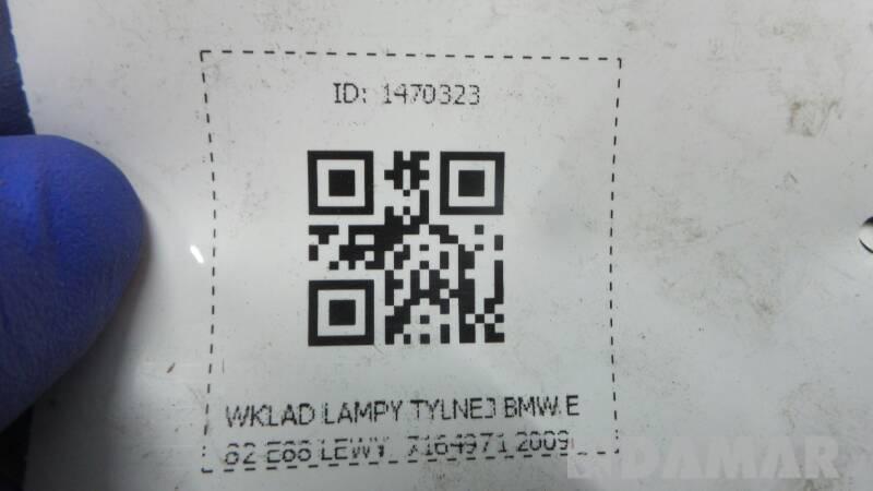 7164971  WKLAD LAMPY LEWY BMW E82 E88 2009r