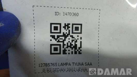 12785765 LAMPA TYLNA SAAB 93 SEDAN 2002 LEWA