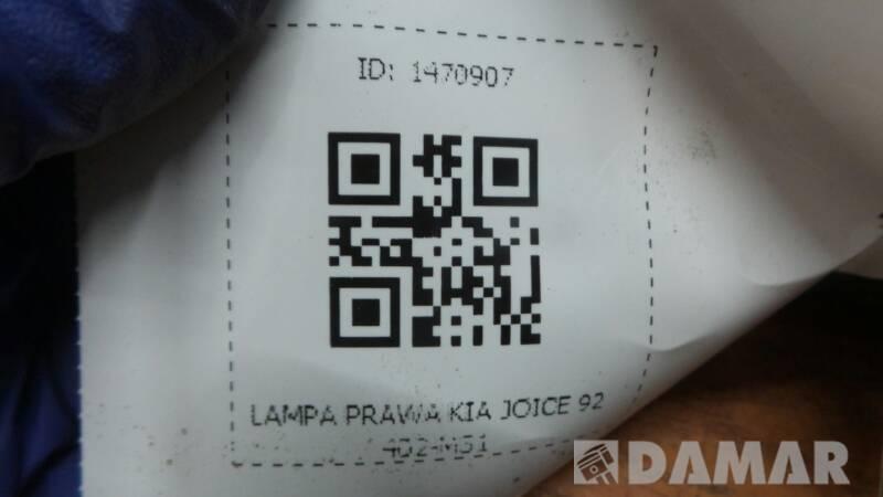 92402-M31 LAMPA PRAWA KIA JOICE