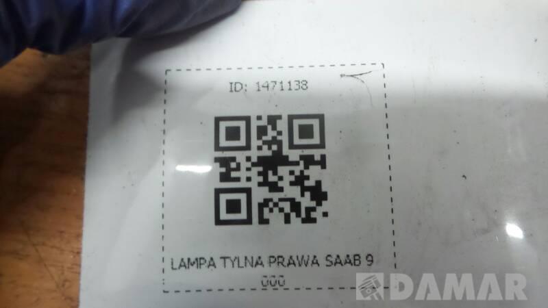 LAMPA TYLNA PRAWA SAAB 9000