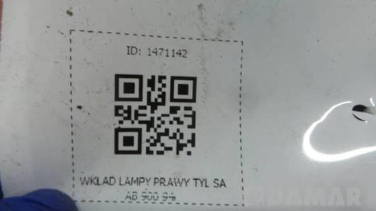 WKLAD LAMPY PRAWY TYL SAAB 900 94r