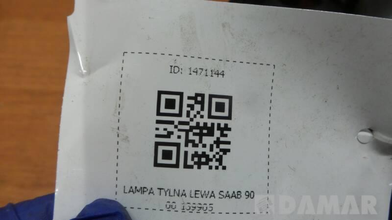 139905 LAMPA TYLNA LEWA SAAB 9000