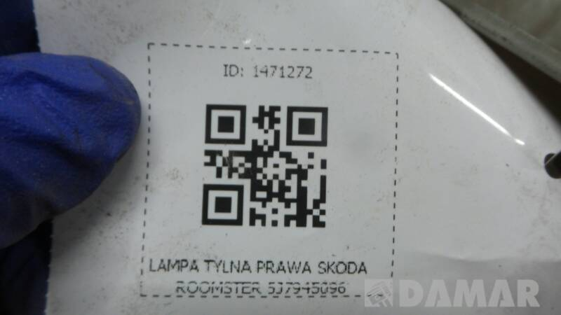 LAMPA TYLNA PRAWA SKODA ROOMSTER 5J7945096