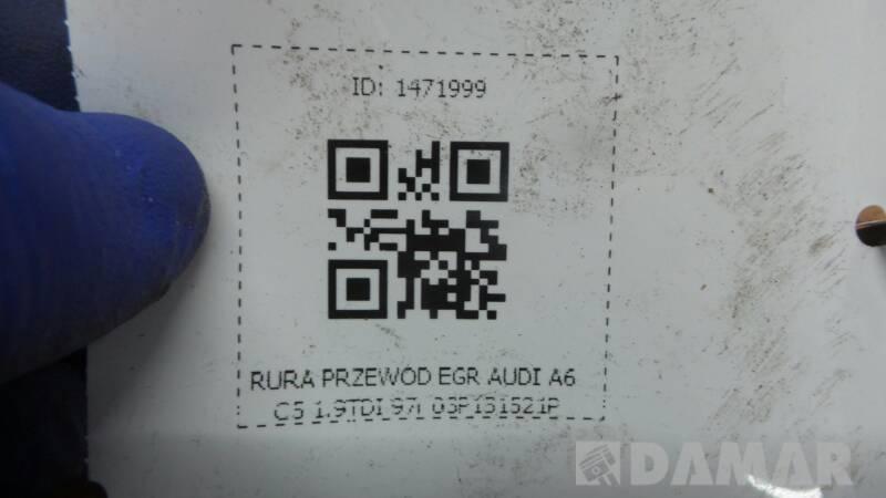 03P131521P RURA PRZEWOD EGR AUDI A6 C5 1.9TDI 97r