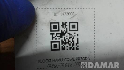 KLOCKI HAMULCOWE PRZOD VOLVO V70 C70 1997r