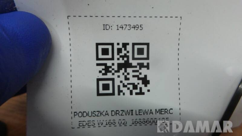 1688600105 PODUSZKA DRZWI LEWA MERCEDES W168 02r