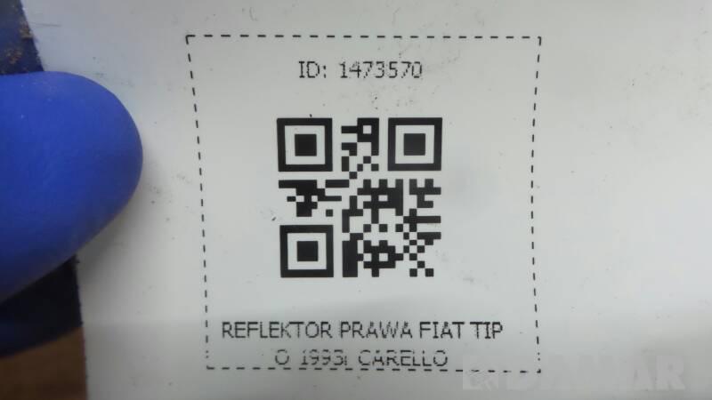 REFLEKTOR PRAWA FIAT TIPO I 1993r CARELLO