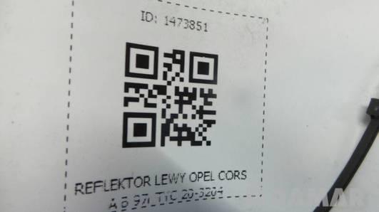 REFLEKTOR LEWY OPEL CORSA B 97r TYC 20-3204