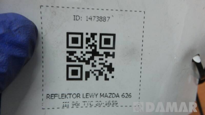 20-1659 REFLEKTOR LEWY MAZDA 626 III 96r TYC