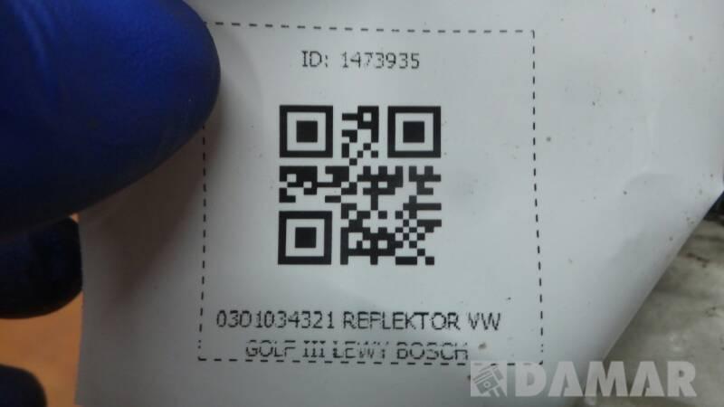 0301034321 REFLEKTOR VW GOLF III LEWY BOSCH