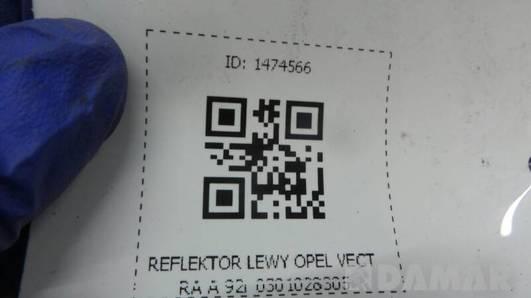 REFLEKTOR LEWY OPEL VECTRA A 92r 0301028305
