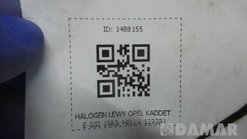 129281 HALOGEN LEWY OPEL KADET E GSI 1983r HELLA