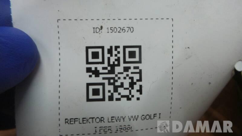 REFLEKTOR LEWY VW GOLF II FER 1988r