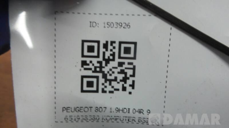 PEUGEOT 807 1.9HDI 04R 9651938380 KOMPUTER BSI
