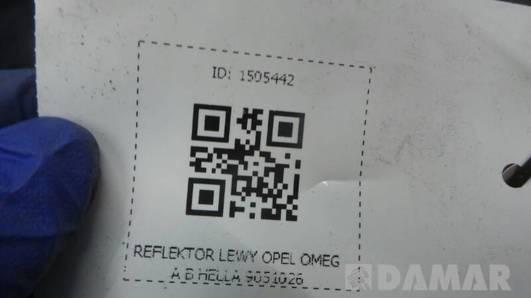 90510026 REFLEKTOR LEWY OPEL OMEGA B HELLA