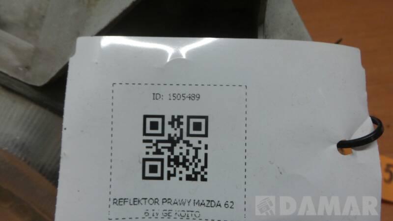 100-61614 REFLEKTOR PRAWY MAZDA 626 IV GE KOITO