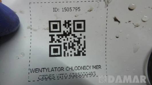 WENTYLATOR CHLODNICY MERCEDES VITO 6385000493