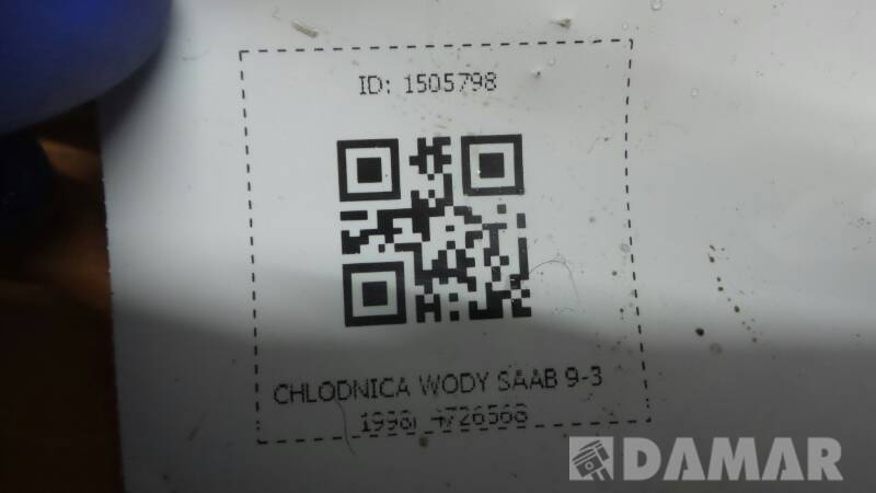 4726568 CHLODNICA WODY SAAB 9-3 1998r