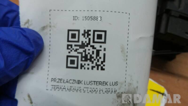 PRZELACZNIK LUSTEREK LUSTERKA LEXUS CT200 H 2011R
