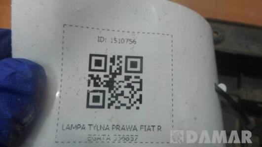 336857 LAMPA PRAWA FIAT REGATA