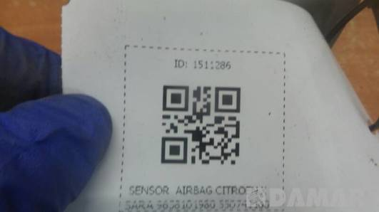 9638101980 SENSOR  AIRBAG CITROEN XSARA  550741100