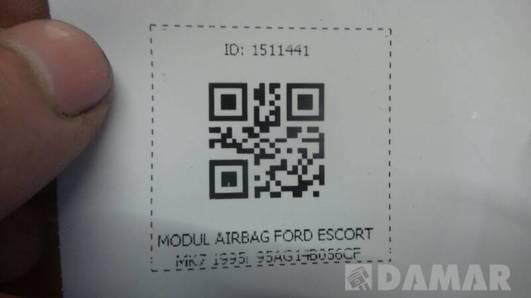 95AG14B056CF MODUL AIRBAG FORD ESCORT MK7 1995r
