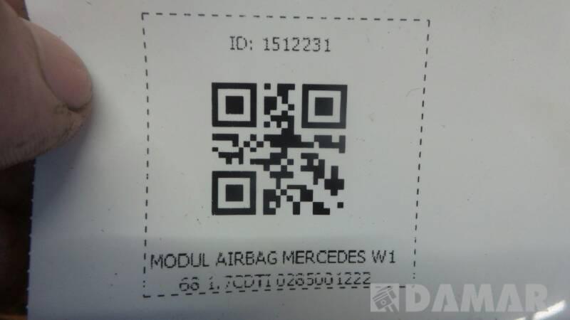 0285001222 MODUL AIRBAG MERCEDES W168 1.7CDTI