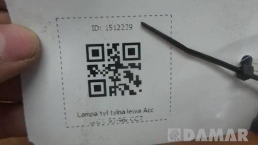 LAMPA LEWA ACCORD V 93-96r CC7