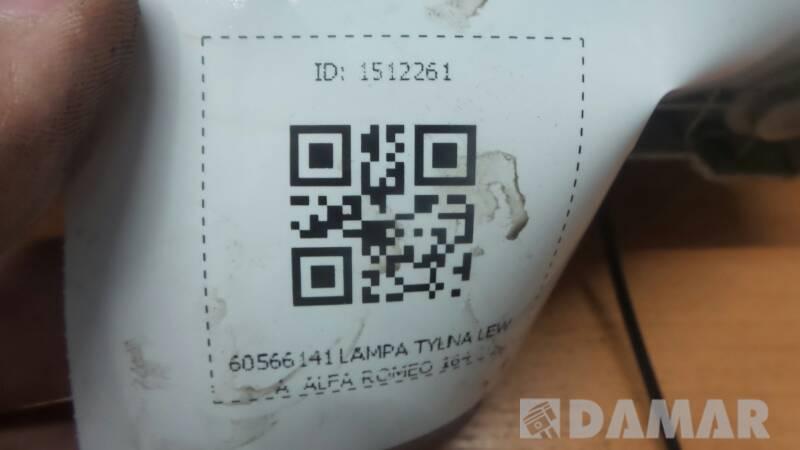 60566141 LAMPA TYLNA LEWA  ALFA ROMEO 164