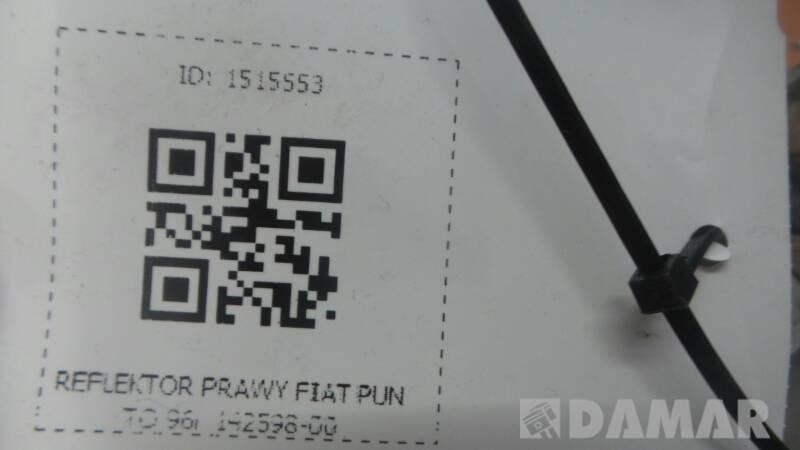142598-00 REFLEKTOR PRAWY FIAT PUNTO 96r