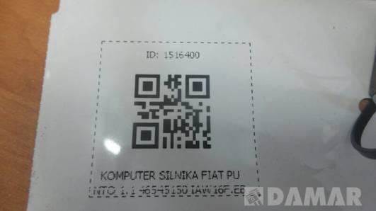 KOMPUTER SILNIKA FIAT PUNTO 1.1 46545150 IAW16F.EB