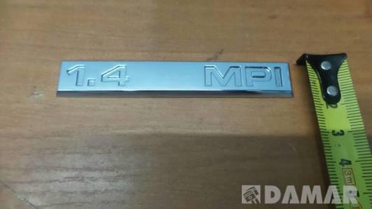 EMBLEMAT ZNACZEK NAPIS 1.4 MPI VW