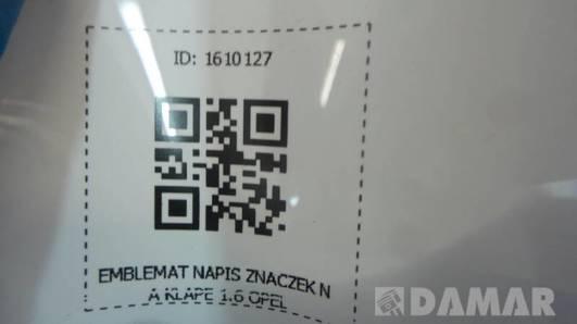EMBLEMAT NAPIS ZNACZEK NA KLAPE 1.6 OPEL