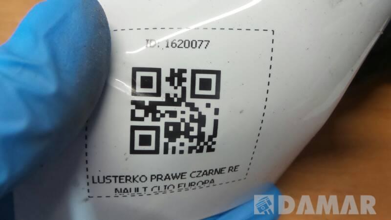 LUSTERKO PRAWE CZARNE RENAULT CLIO EUROPA
