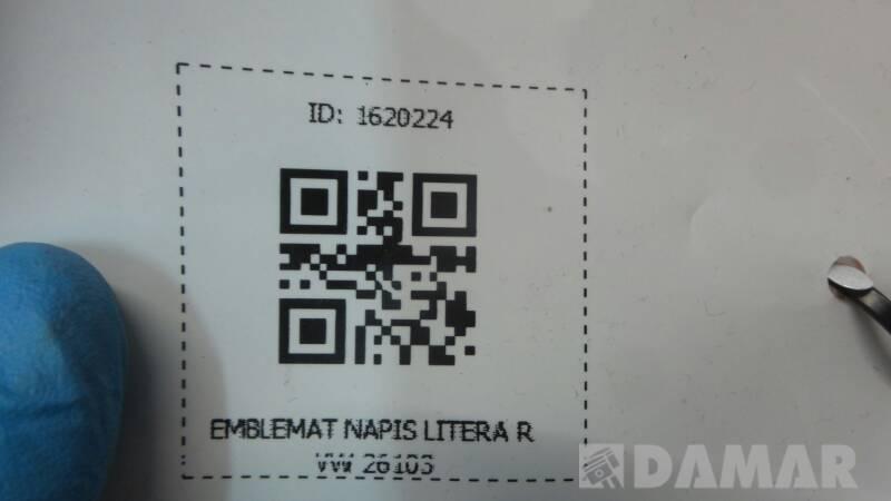EMBLEMAT NAPIS LITERA R VW 26103