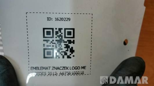 A6738100018 EMBLEMAT ZNACZEK LOGO MERCEDES 2012r