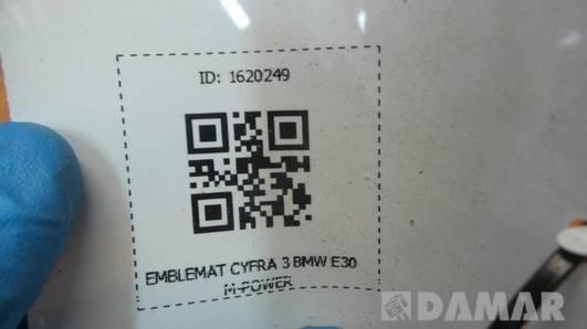 EMBLEMAT CYFRA 3 BMW E30 M-POWER