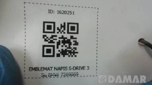 7269069 EMBLEMAT NAPIS S-DRIVE 35is BMW