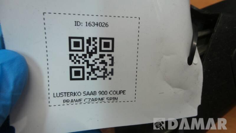 LUSTERKO SAAB 900 COUPE PRAWE CZARNE 5PIN