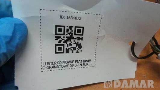 LUSTERKO PRAWE FIAT BRAVO GRANATOWE 09 5PIN EUROPA