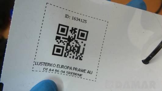 LUSTERKO EUROPA PRAWE AUDI A4 B6 04 SREBRNE EUROPA