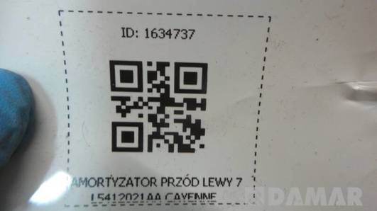 7L5412022 AMORTYZATOR PRZOD LEWY CAYENNE