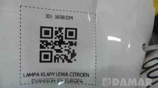 LAMPA KLAPY LEWA CITROEN EVANSION 95r EUROPA